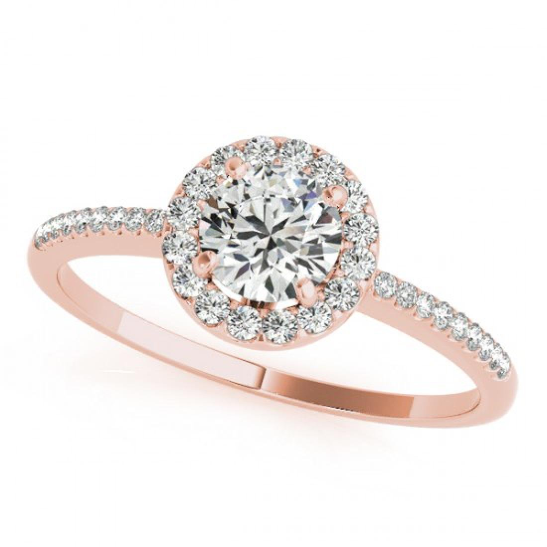 1.2 CTW Certified VS/SI Diamond Solitaire Halo Ring 14K