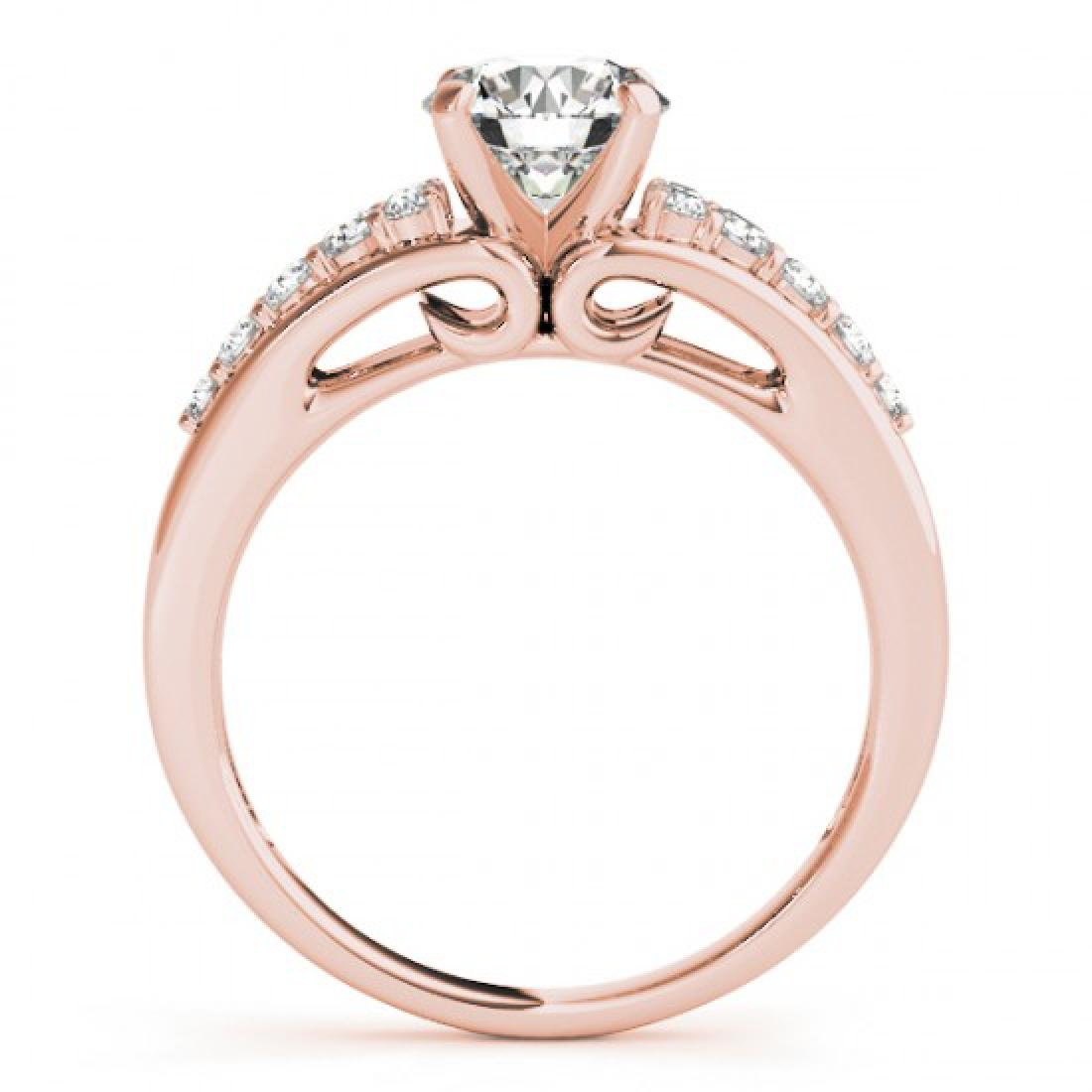 1.15 CTW Certified VS/SI Diamond Solitaire Ring 14K - 2