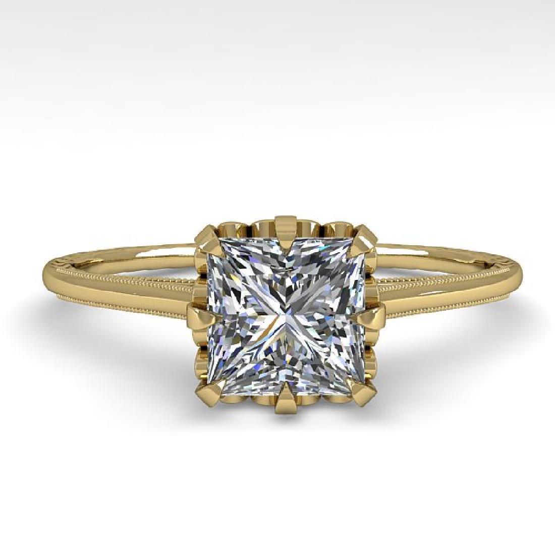 1.0 CTW VS/SI Princess Diamond Solitaire Ring 14K