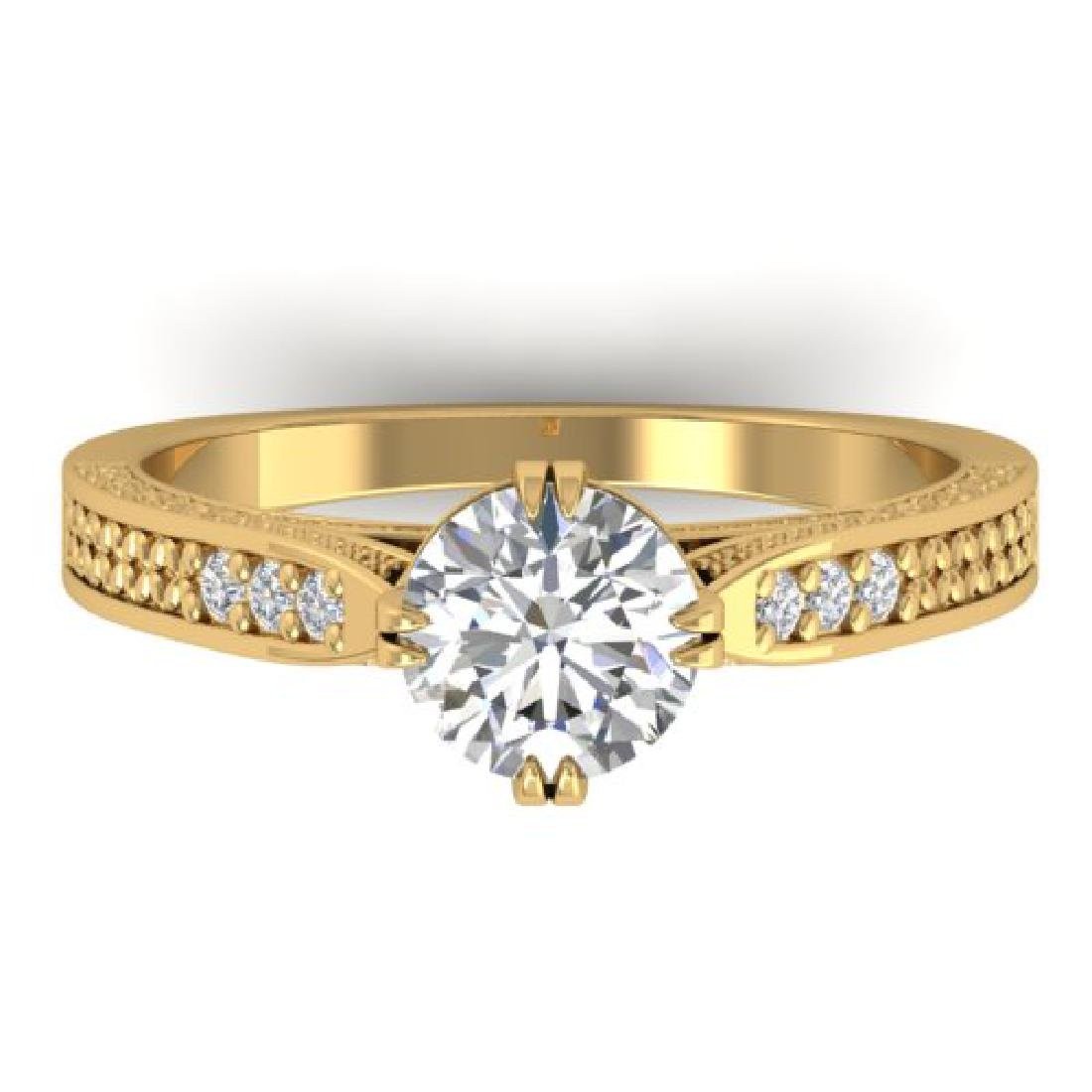 1.22 CTW Certified VS/SI Diamond Solitaire Art Deco