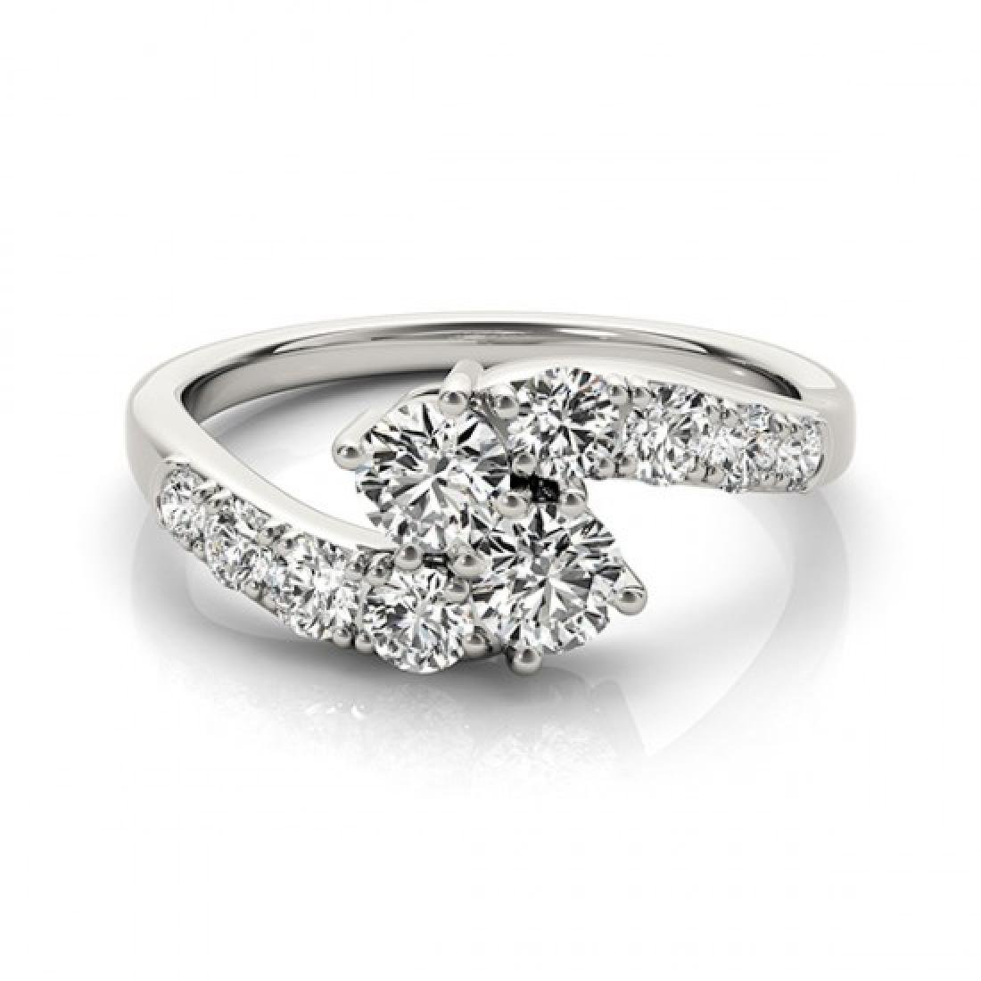 1.25 CTW Certified VS/SI Diamond 2 Stone 2 Stone Ring