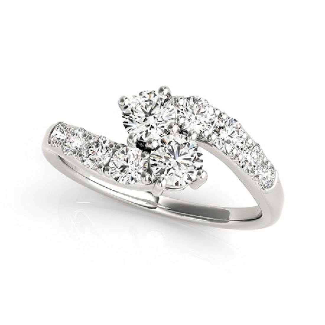 1.25 CTW Certified VS/SI Diamond 2 Stone 2 Stone Ring - 2