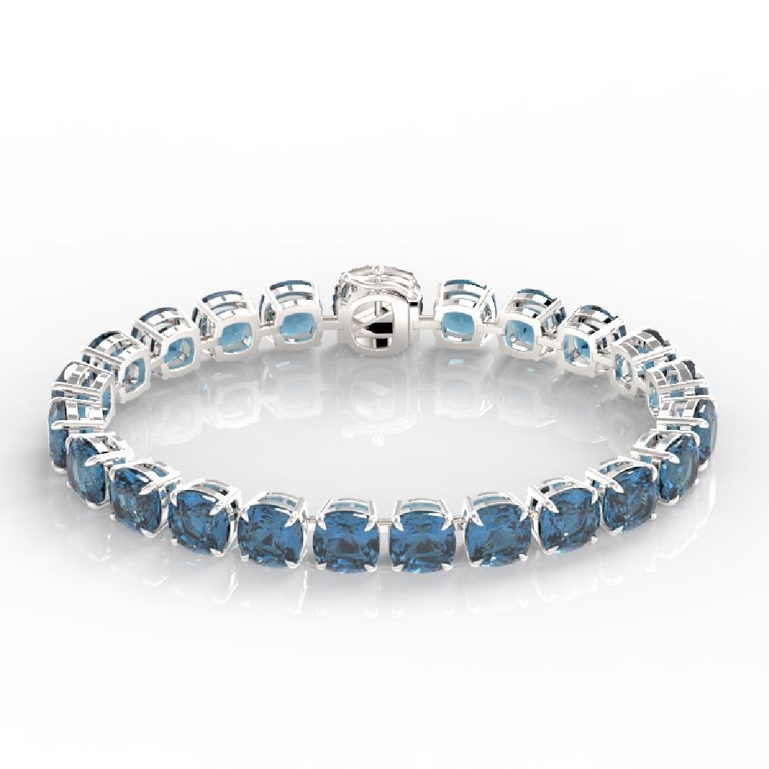 35 CTW London Blue Topaz & Micro VS/SI Diamond Halo - 2