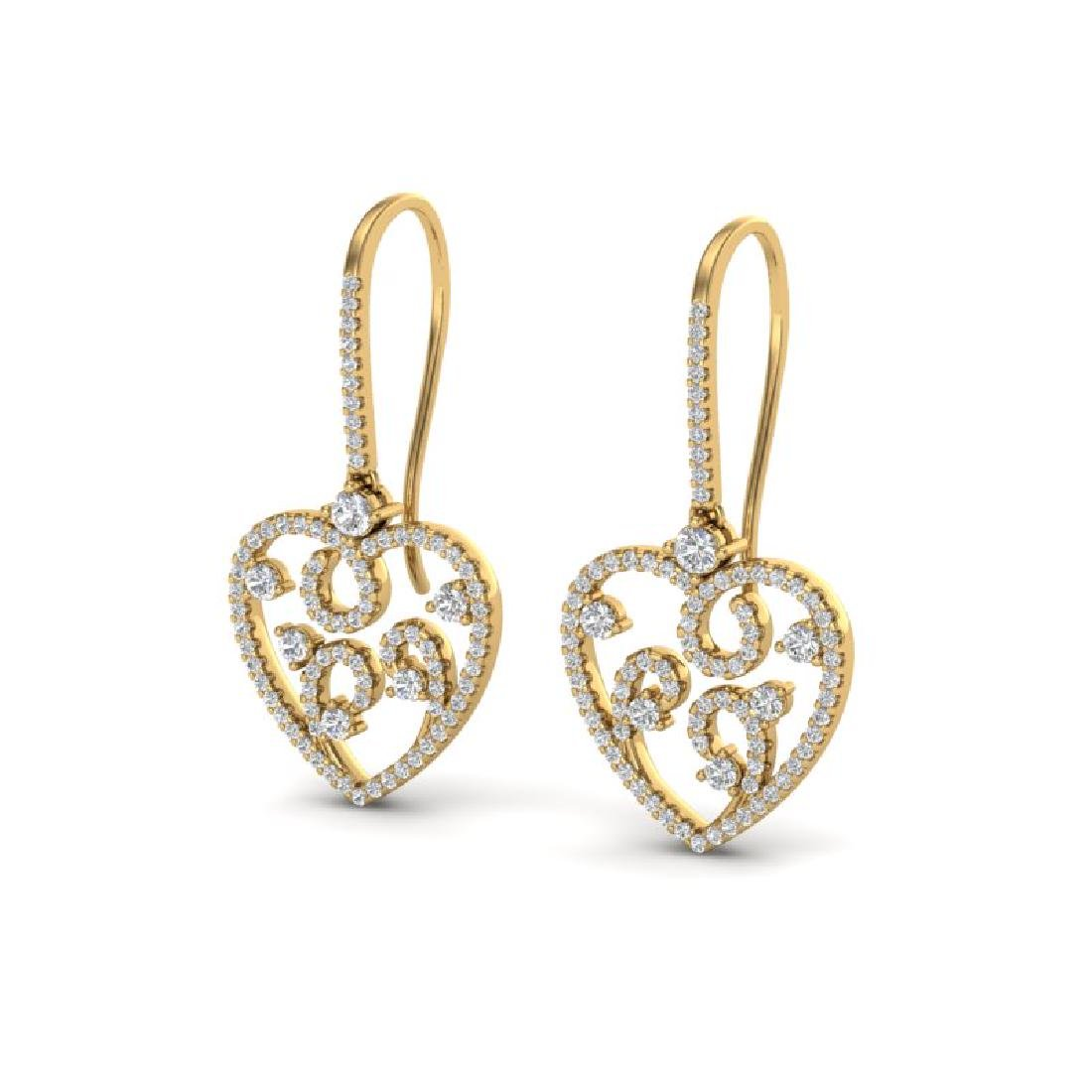 2.50 CTW VS/SI Diamond Micro Pave Designer Earrings 14K