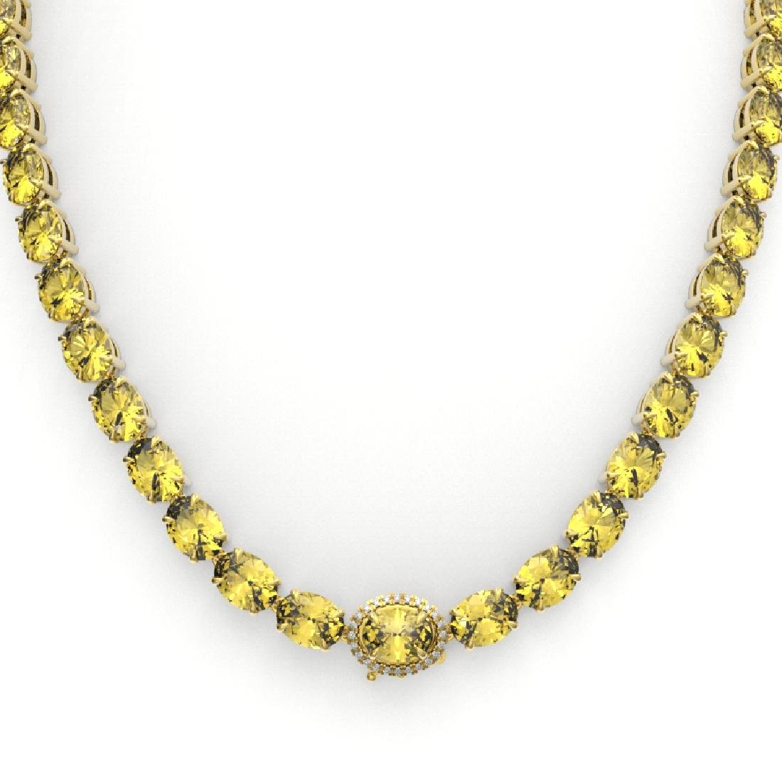 72 CTW Citrine & VS/SI Diamond Tennis Micro Pave Halo - 2