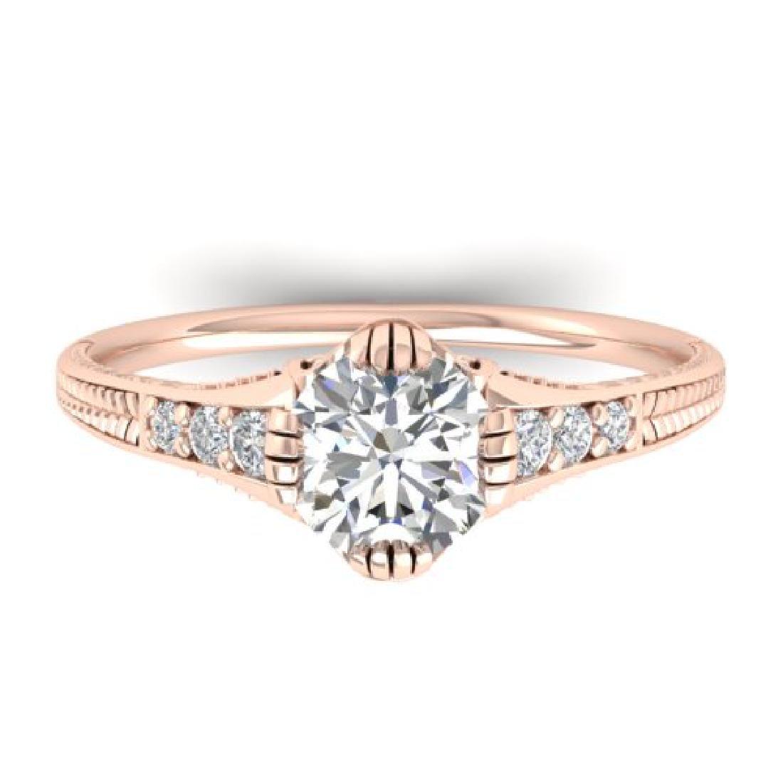 1.25 CTW Certified VS/SI Diamond Solitaire Art Deco