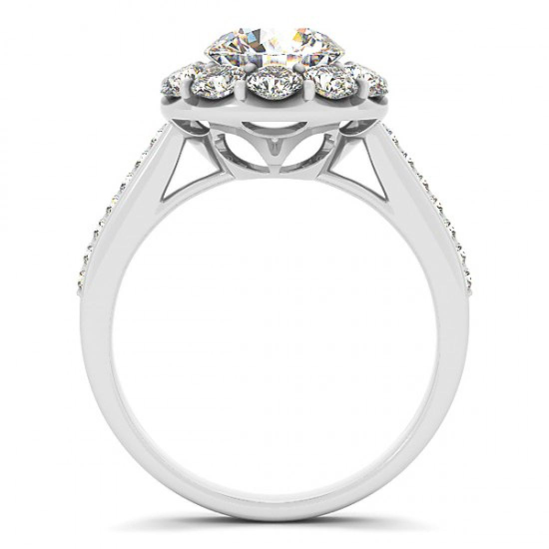 2.75 CTW Certified VS/SI Diamond Solitaire Halo Ring - 2