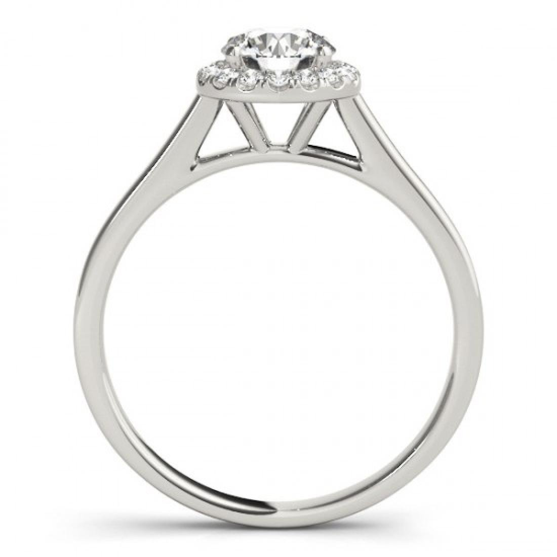 1.11 CTW Certified VS/SI Diamond Solitaire Halo Ring - 2