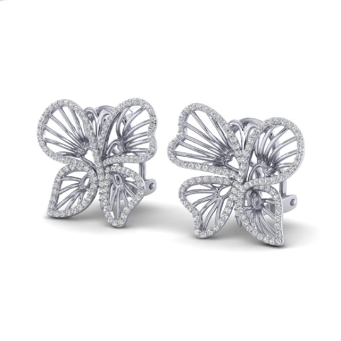 1.25 CTW Designer Micro Butterfly VS/SI Diamond