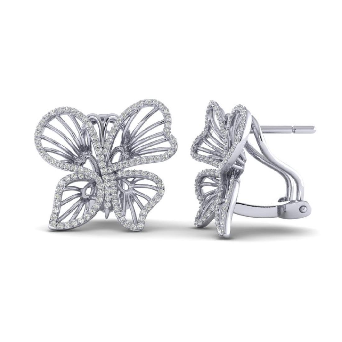 1.25 CTW Designer Micro Butterfly VS/SI Diamond - 2