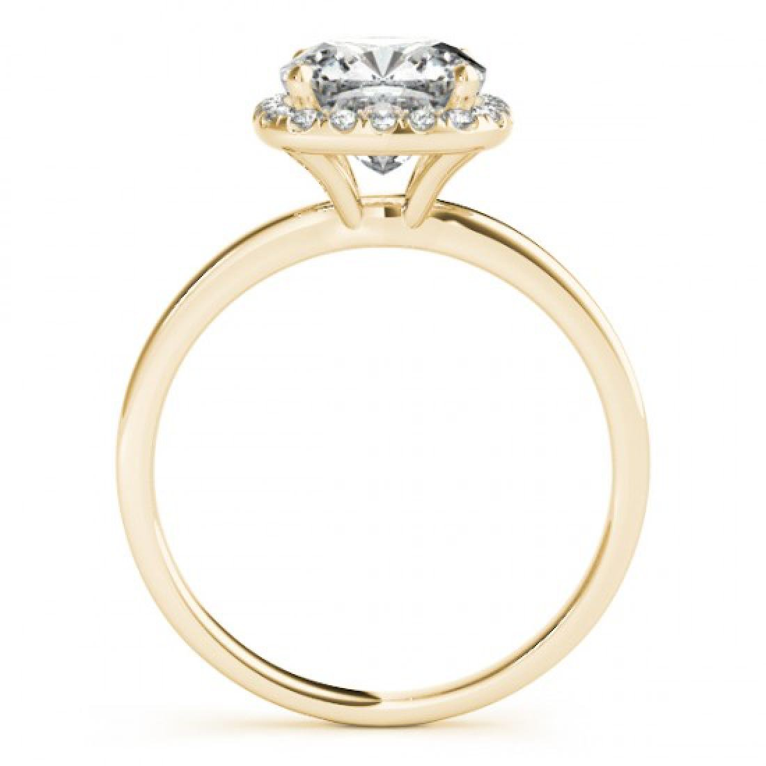 0.92 CTW Certified VS/SI Cushion Diamond Solitaire Halo - 2