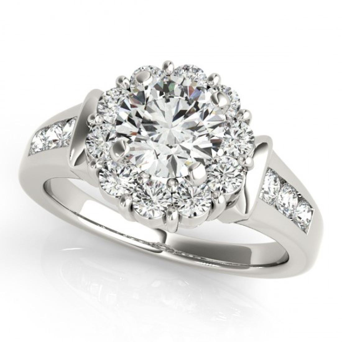 1.9 CTW Certified VS/SI Diamond Solitaire Halo Ring 14K