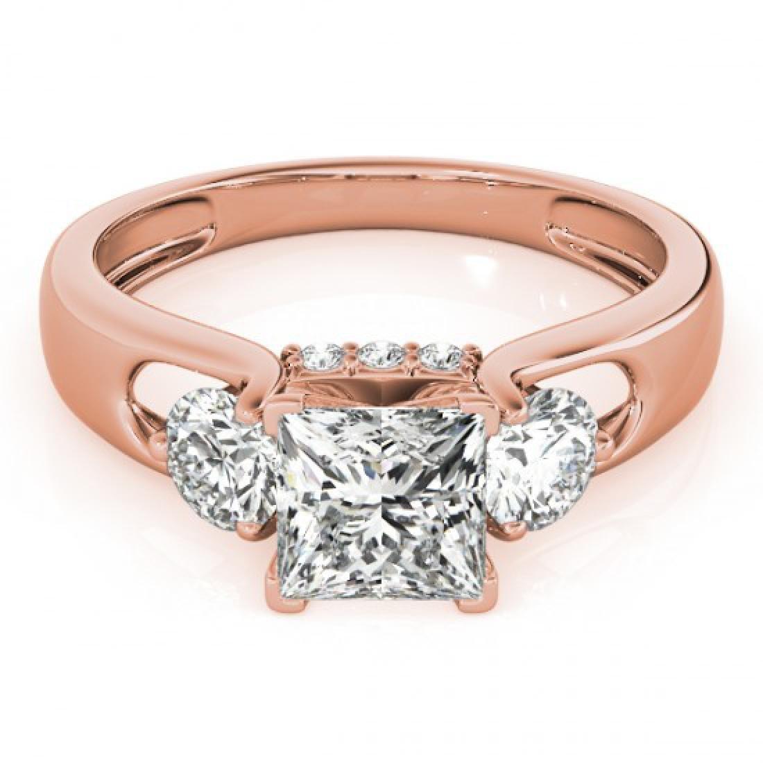 1.6 CTW Certified VS/SI Princess Cut Diamond 3 Stone
