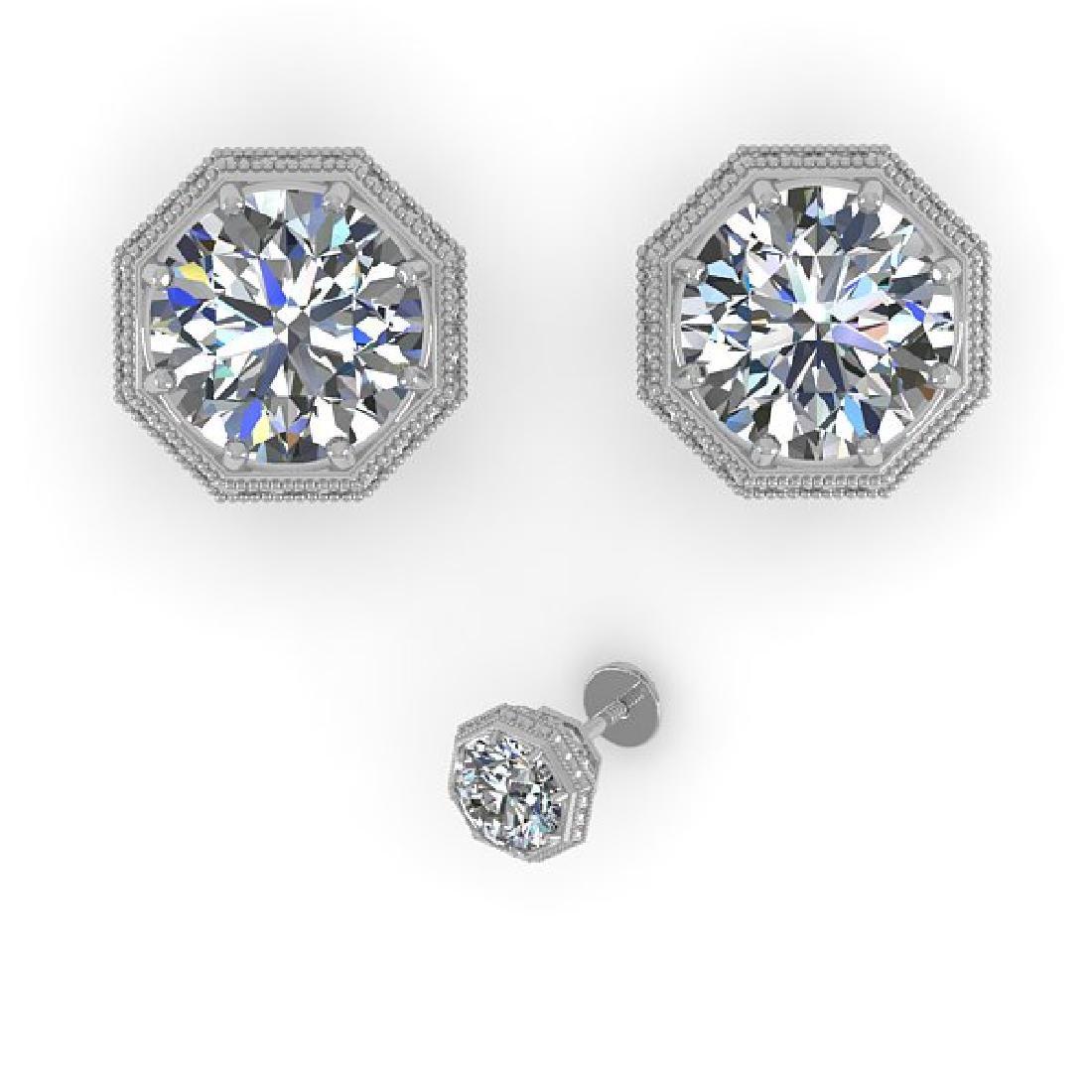 1.05 CTW Certified VS/SI Diamond Stud Earrings 14K - 2