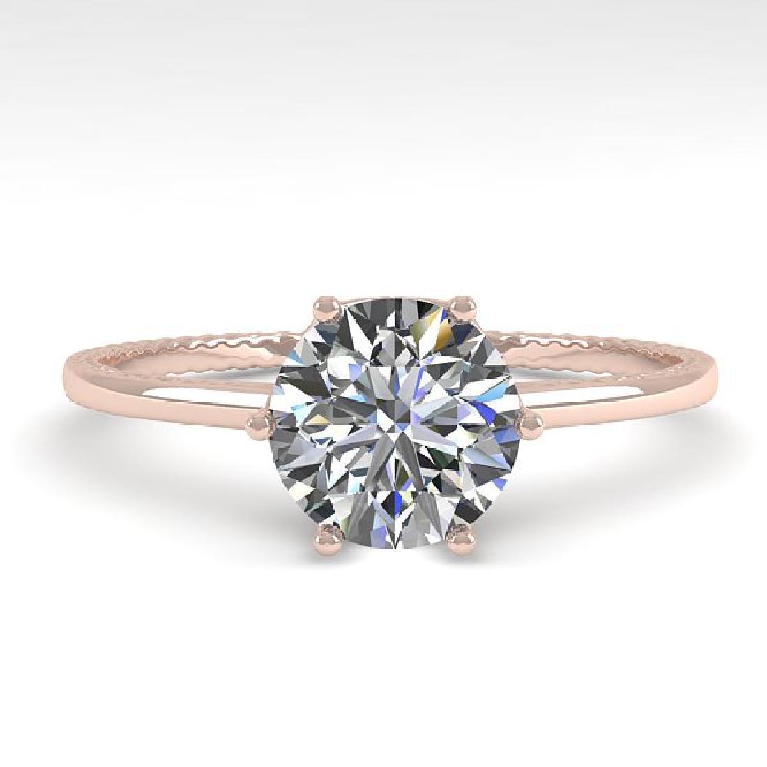 1.0 CTW VS/SI Diamond Art Deco Ring 14K Rose Gold