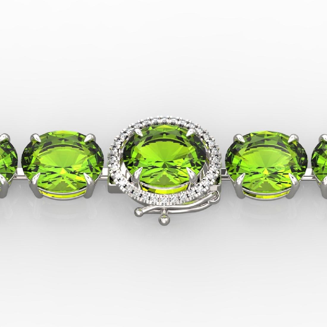 67 CTW Peridot & Micro VS/SI Diamond Halo Designer