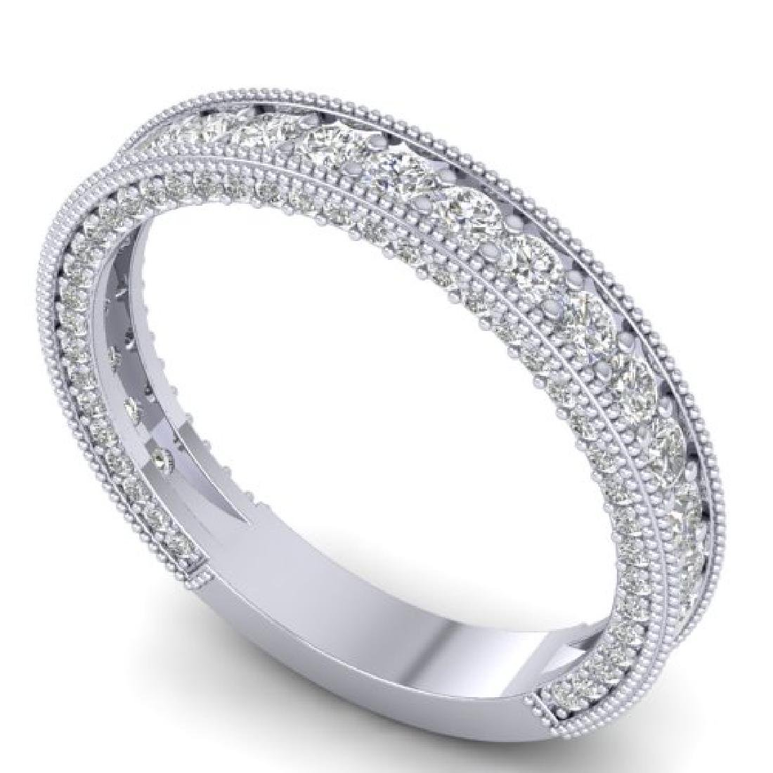 1.25 CTW VS/SI Diamond Art Deco Eternity Band Ring 18K - 2