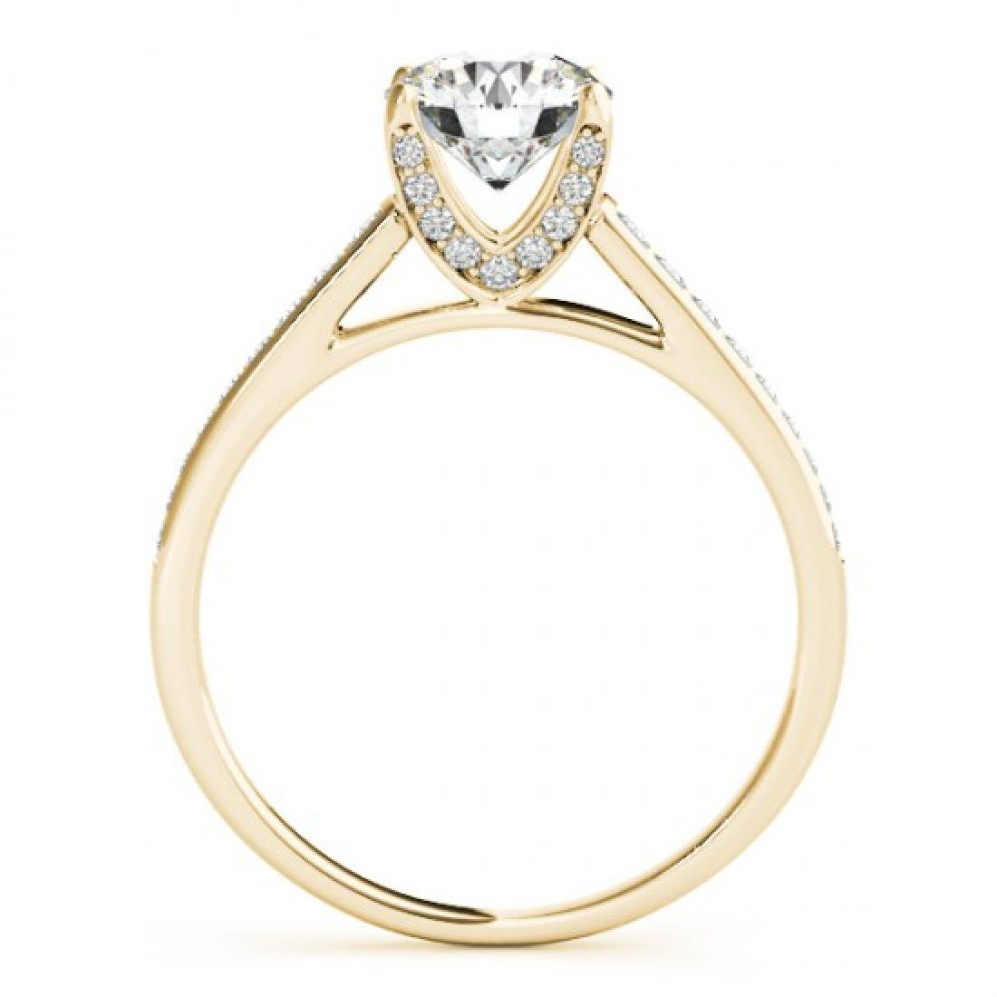 2 CTW Certified VS/SI Diamond Solitaire Ring 14K Yellow - 2
