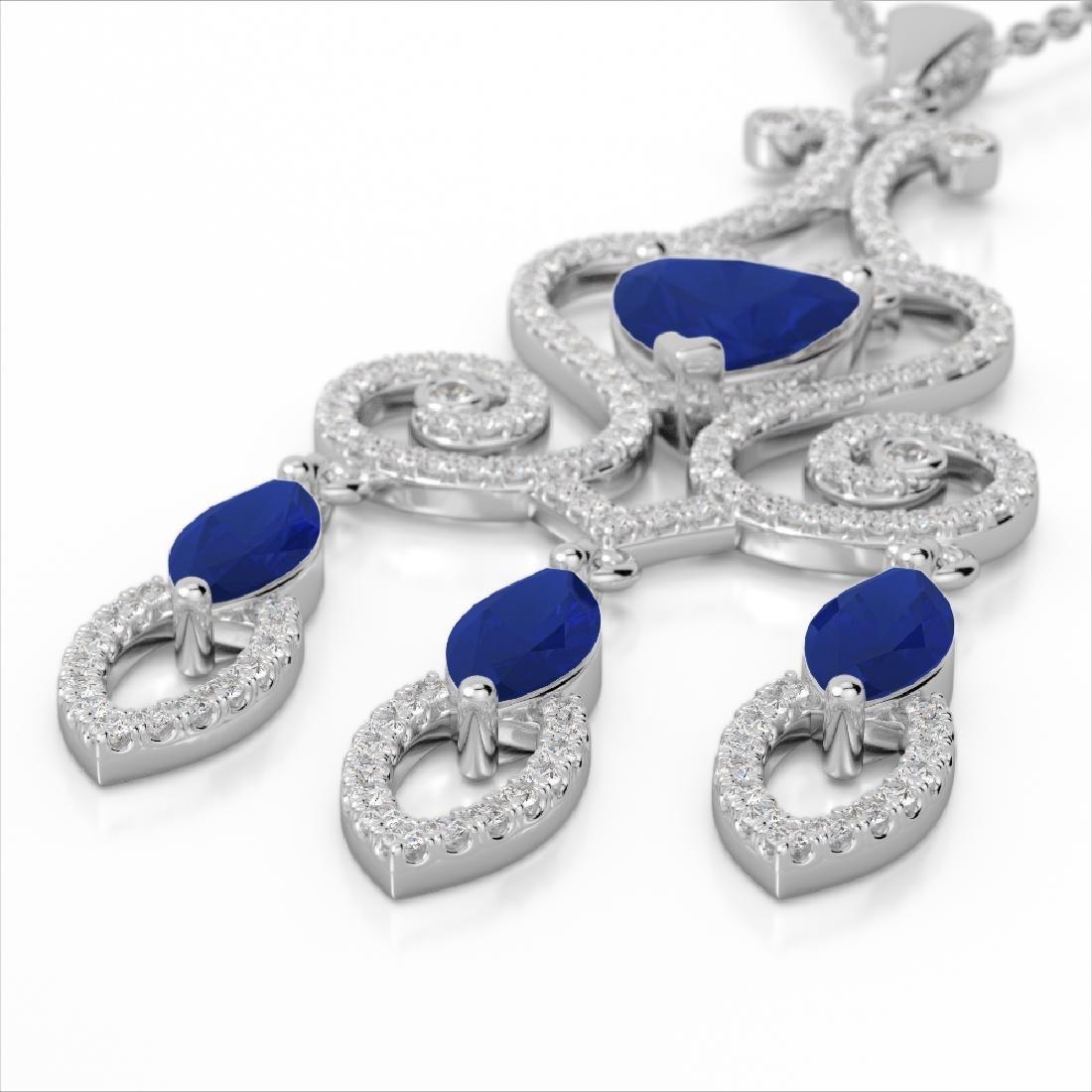 5.50 CTW Sapphire & Micro Pave VS/SI Diamond Heart
