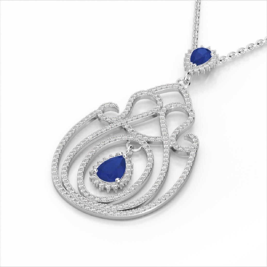 3.20 CTW Sapphire & Micro Pave VS/SI Diamond Heart - 2