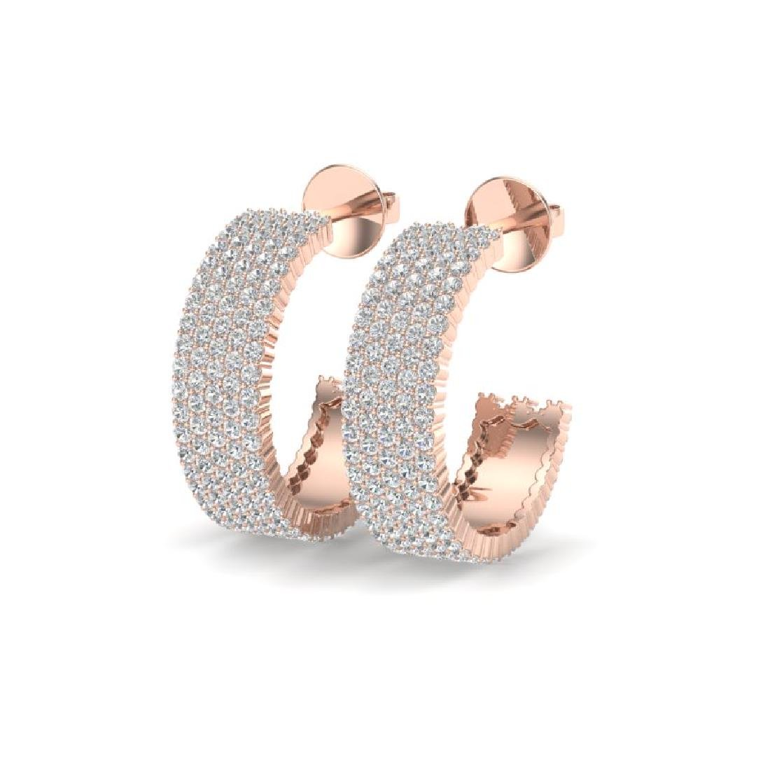 4.50 CTW Micro Pave VS/SI Diamond Earrings 14K Rose