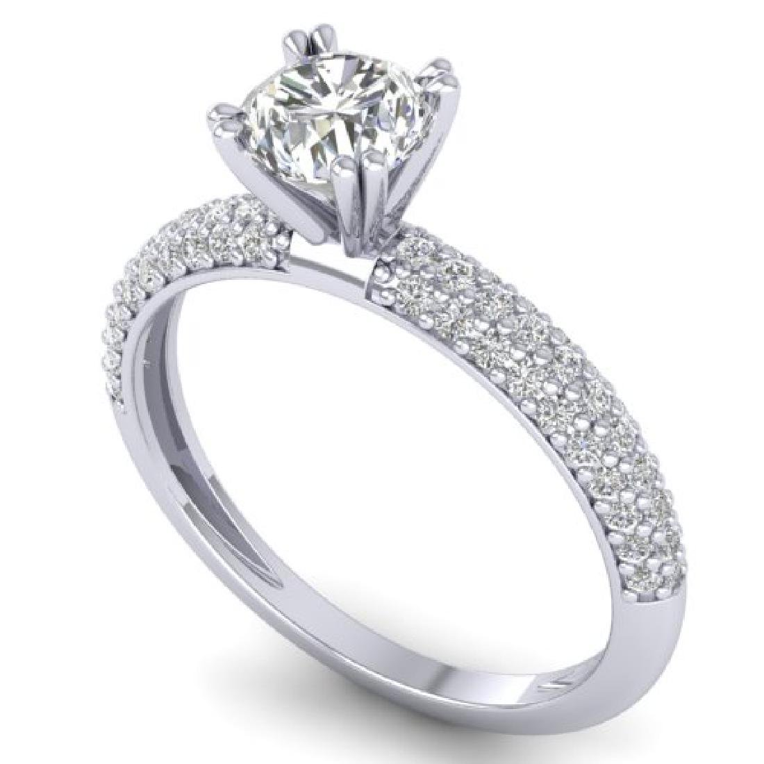 1.4 CTW Certified VS/SI Diamond Solitaire Art Deco - 2