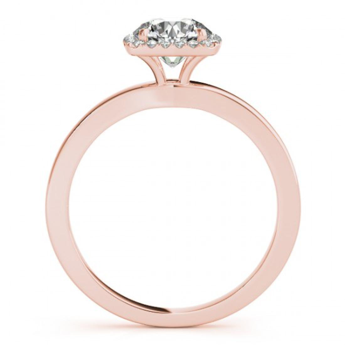 0.65 CTW Certified VS/SI Diamond Solitaire Halo Ring - 2