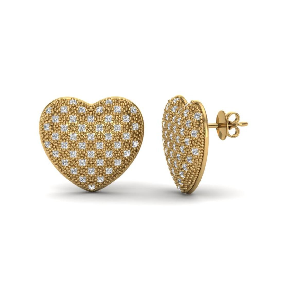1.50 Designer CTW Micro Pave VS/SI Diamond Heart - 2