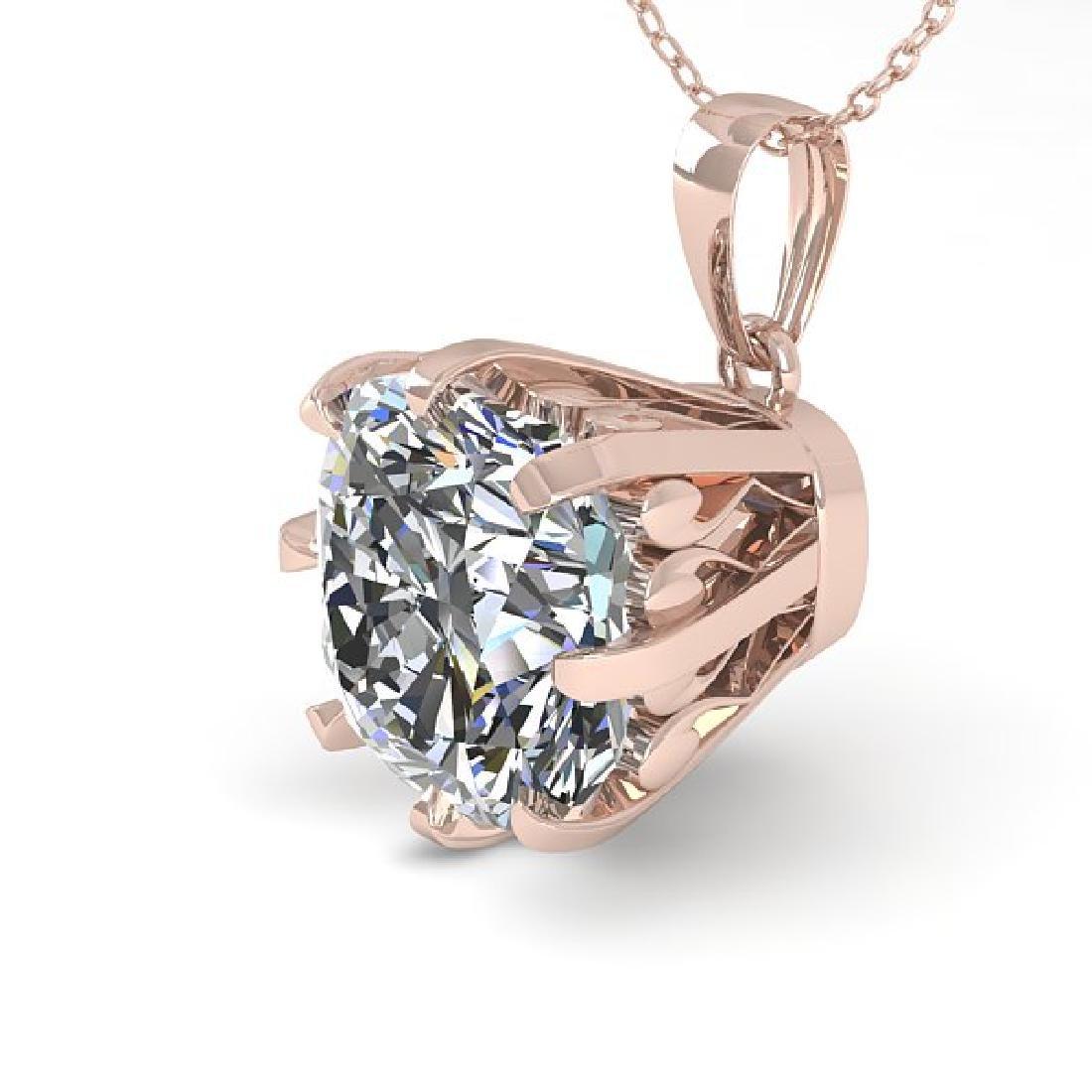 1 CTW VS/SI Cushion Diamond Solitaire Necklace 14K Rose