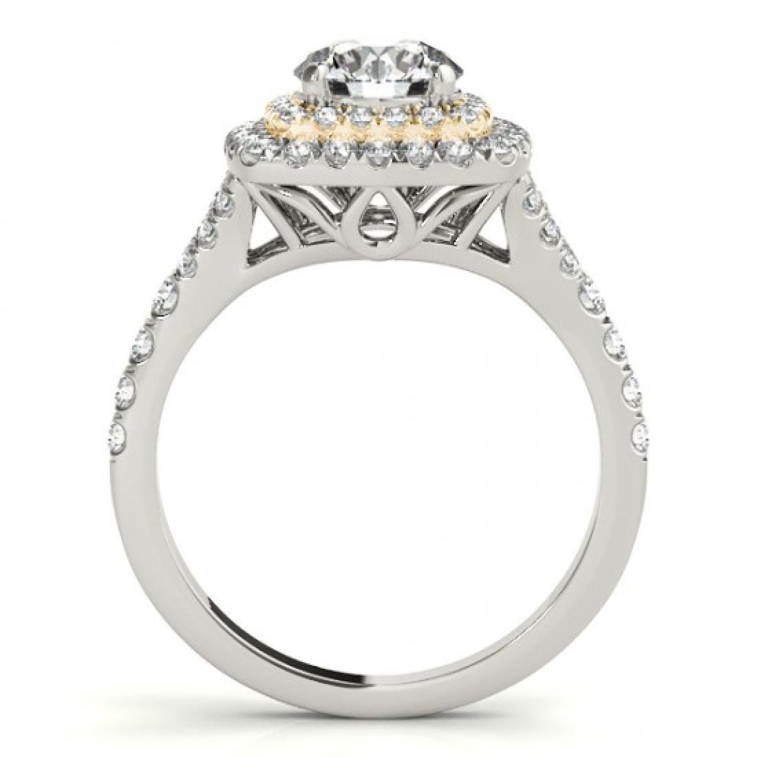 1.45 CTW Certified VS/SI Diamond Solitaire Halo Ring - 2
