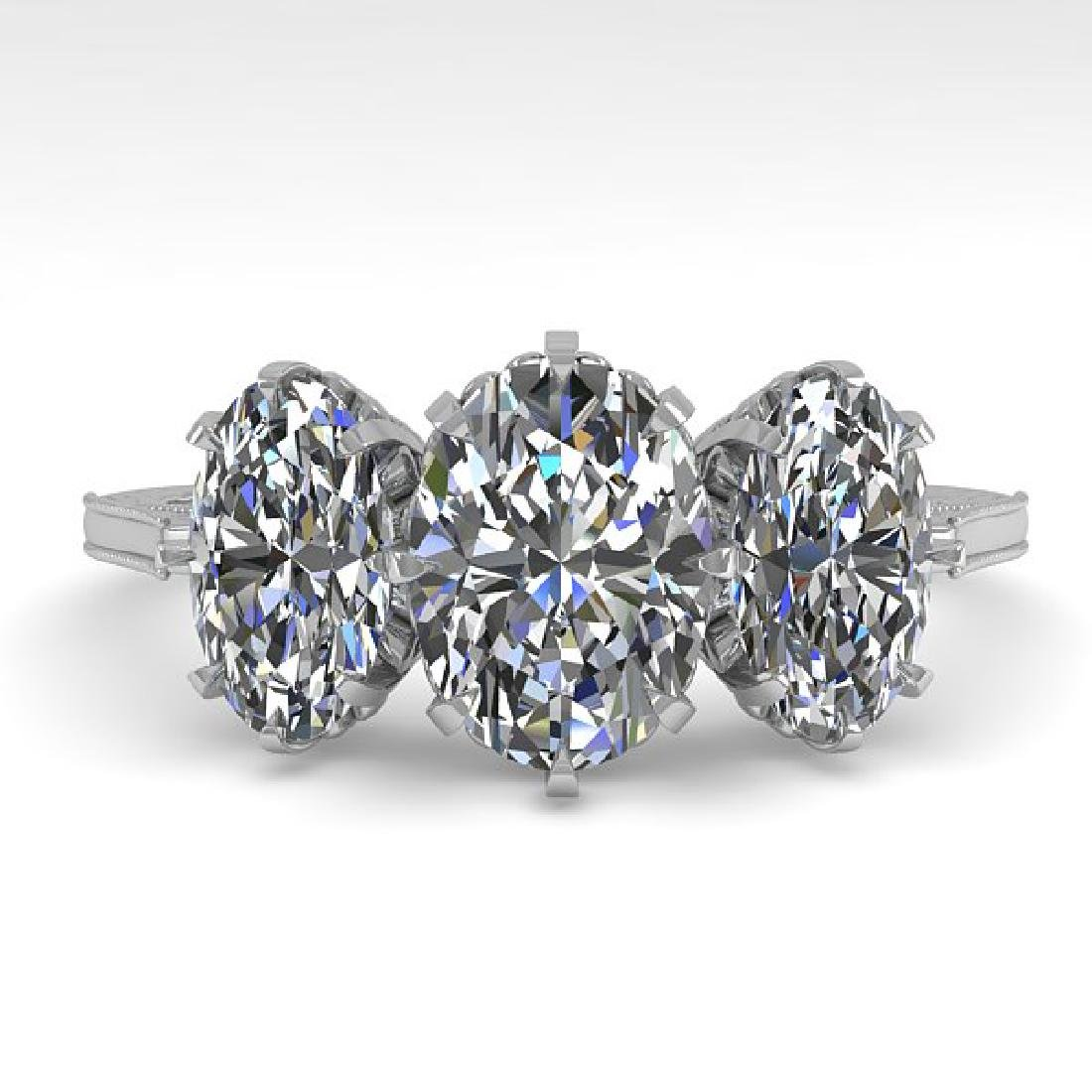2 CTW Solitaire VS/SI Oval Cut Diamond 14K White Gold