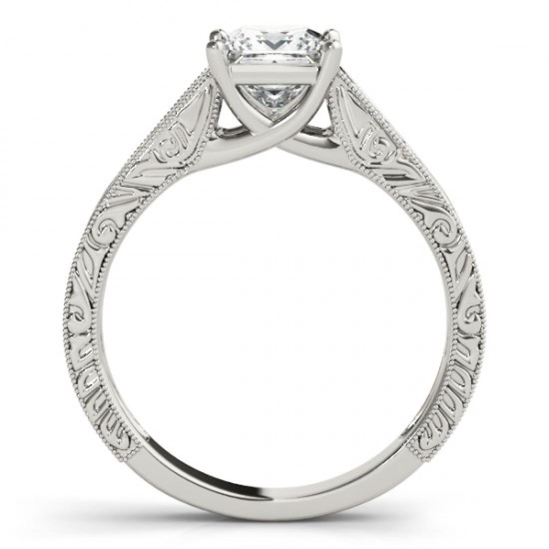 0.5 CTW Certified VS/SI Princess Diamond Ring 14K White - 2
