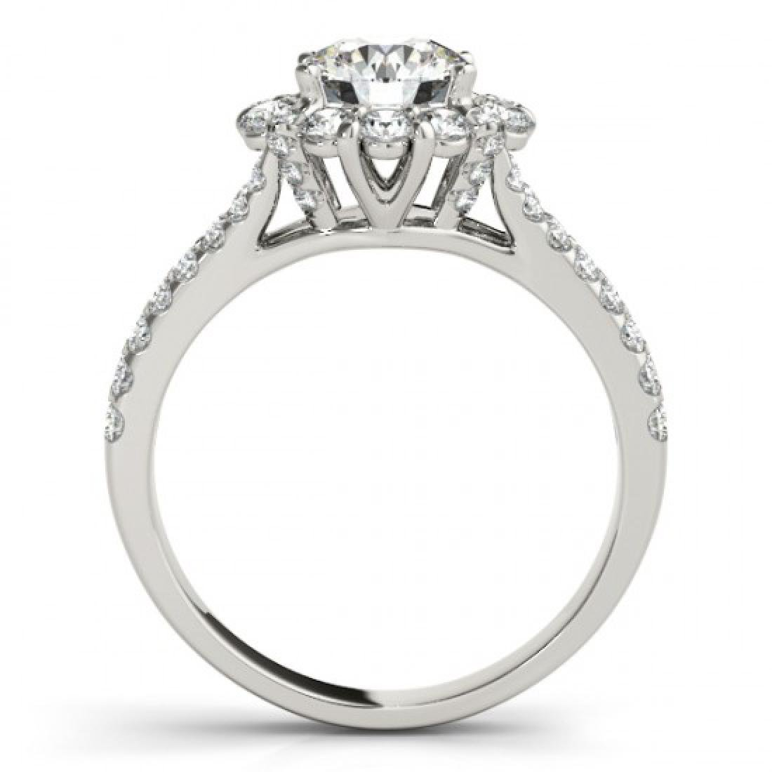 2.51 CTW Certified VS/SI Diamond Solitaire Halo Ring - 2