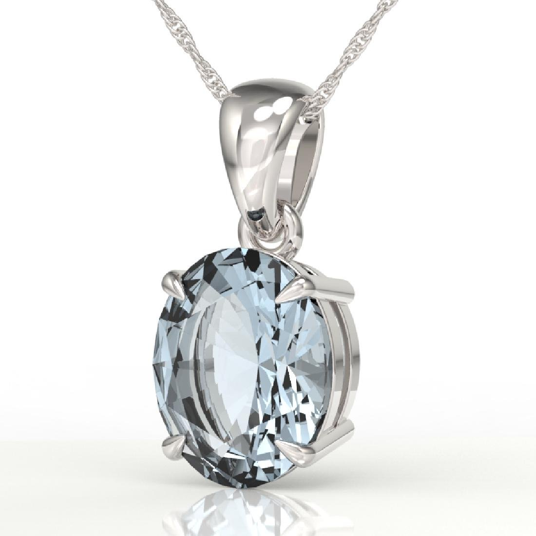 2.5 CTW Aquamarine Designer Inspired Solitaire Necklace