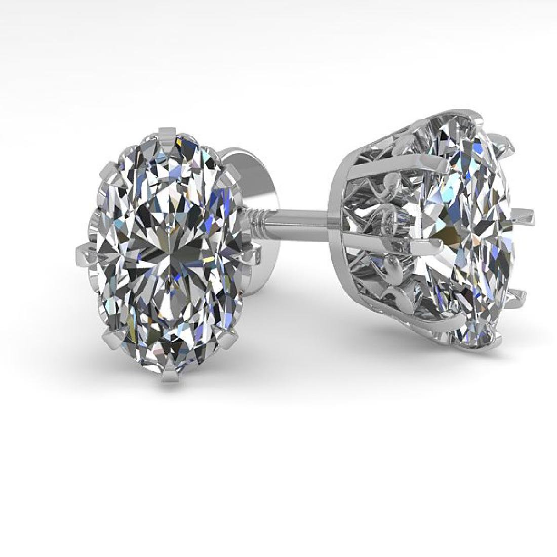 1.0 CTW VS/SI Oval Cut Diamond Stud Solitaire Earrings