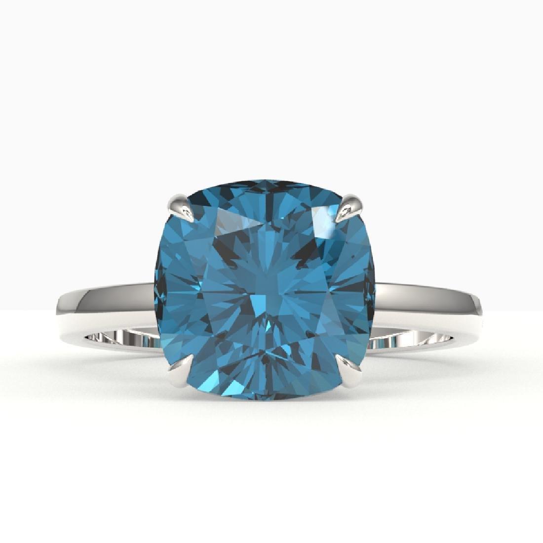 6 CTW London Blue Topaz Designer Inspired Solitaire