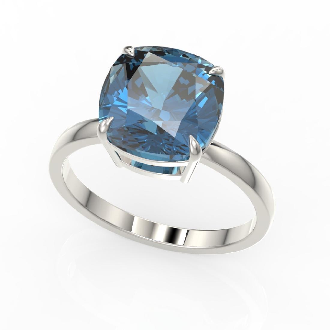 6 CTW London Blue Topaz Designer Inspired Solitaire - 2