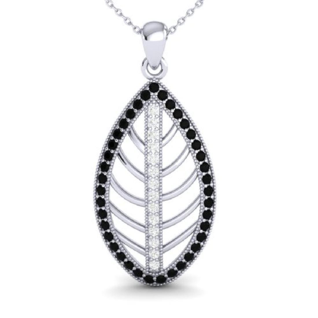 1 CTW Micro Pave Black & White VS/SI Diamond Designer