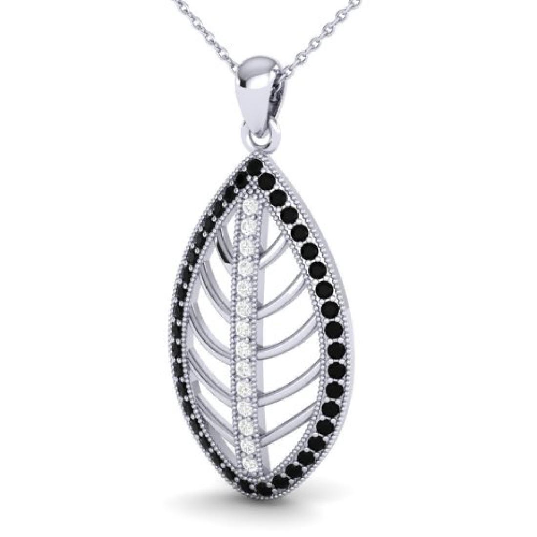 1 CTW Micro Pave Black & White VS/SI Diamond Designer - 2