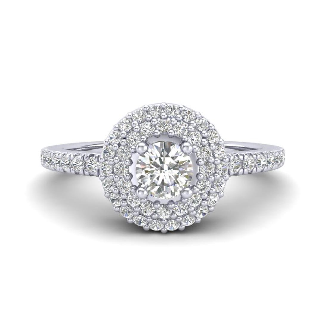 0.70 CTW Micro Pave VS/SI Diamond Designer Ring 18K