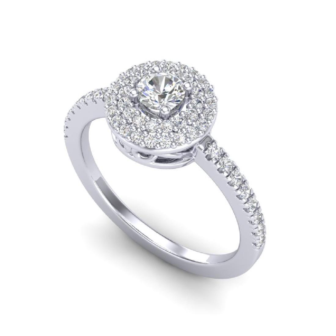 0.70 CTW Micro Pave VS/SI Diamond Designer Ring 18K - 2