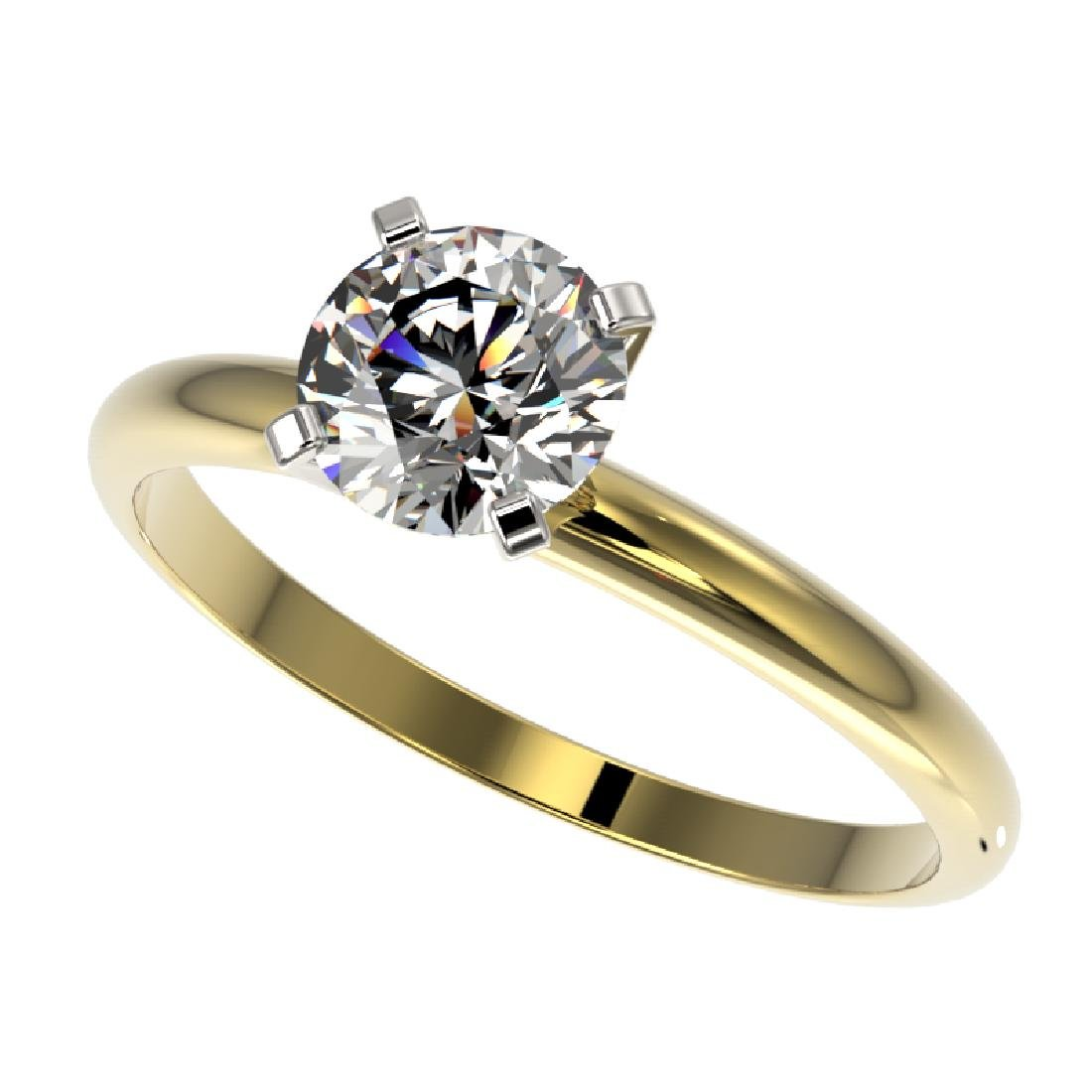 1 CTW Certified H-SI/I Quality Diamond Solitaire