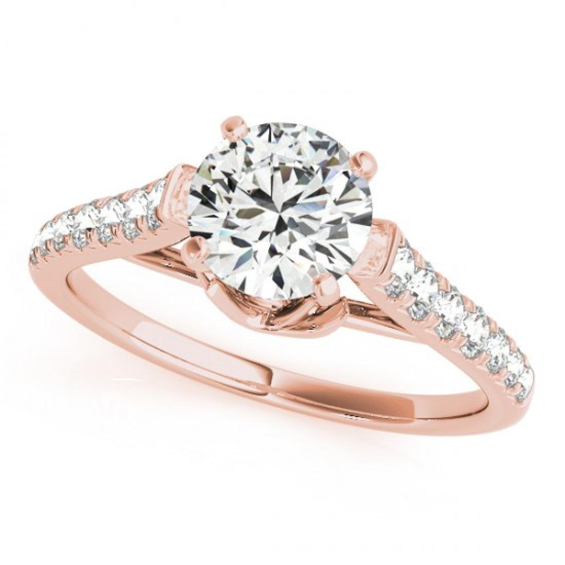 1.46 CTW Certified VS/SI Diamond Solitaire Ring 14K