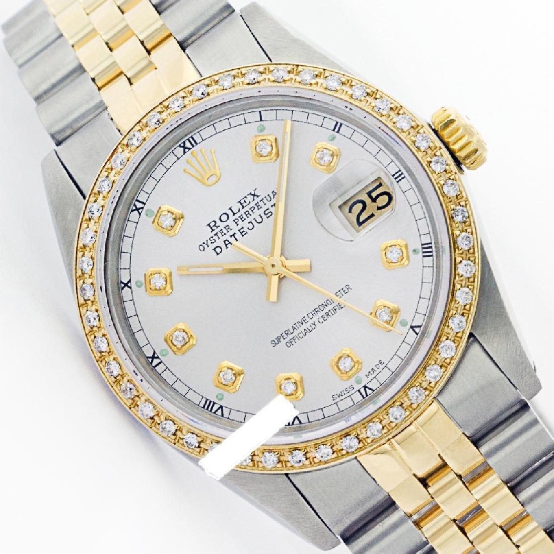 Rolex Men's Two Tone 14K Gold/SS, QuickSet, Diamond