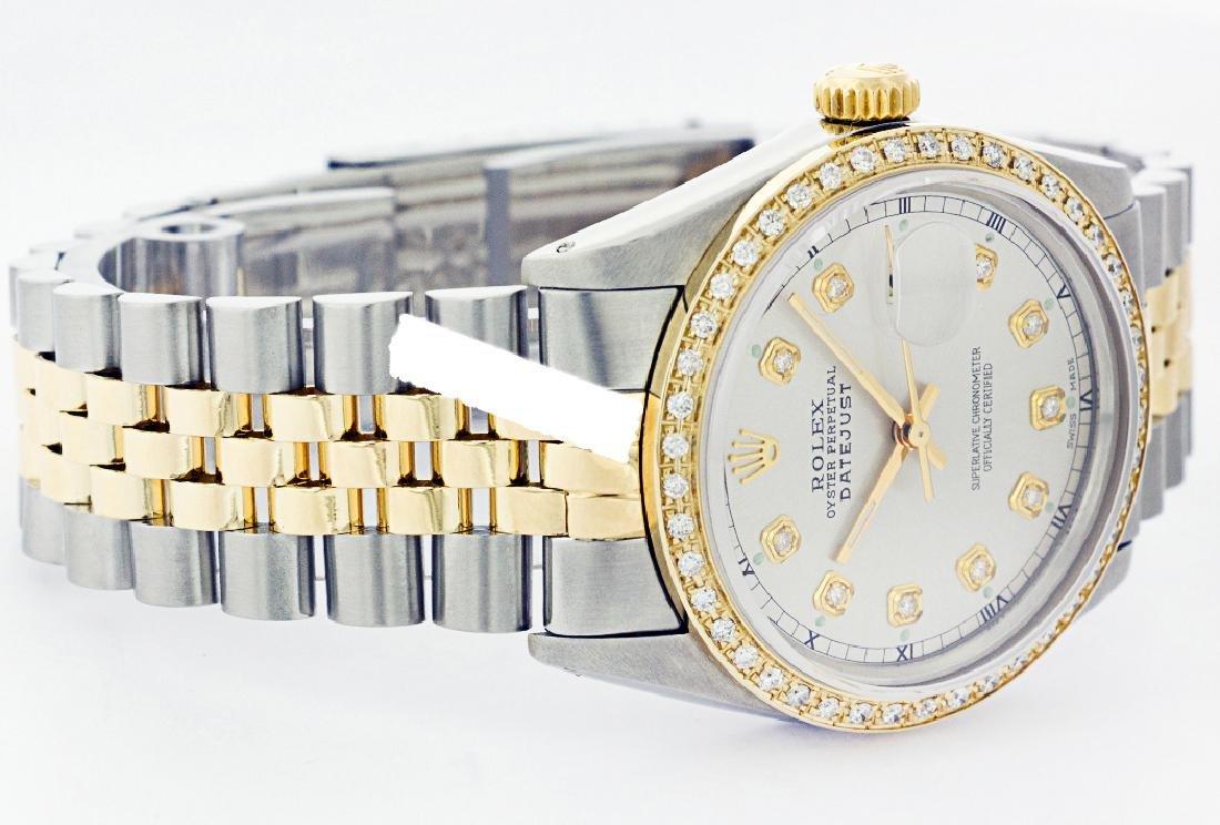 Rolex Men's Two Tone 14K Gold/SS, QuickSet, Diamond - 2