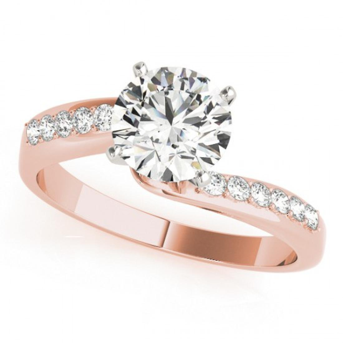 1.15 CTW Certified VS/SI Diamond Bypass Solitaire Ring - 2