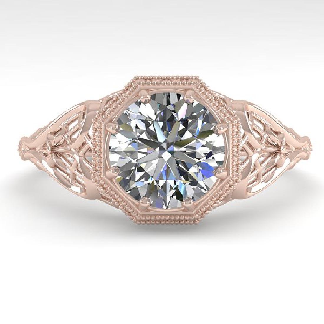 1.50 CTW VS/SI Diamond Solitaire Ring 14K Rose Gold