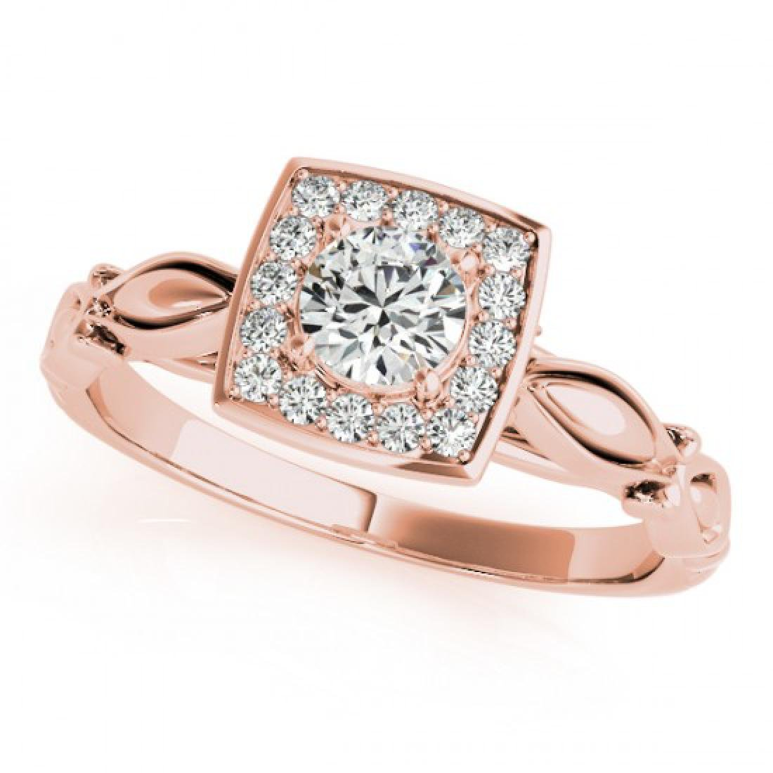 0.55 CTW Certified VS/SI Diamond Solitaire Halo Ring - 2