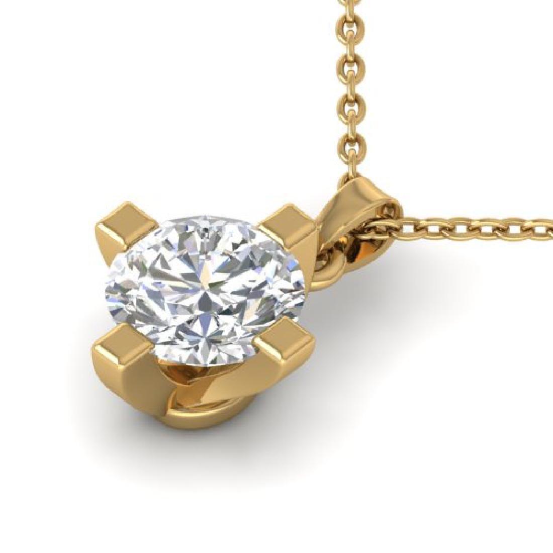 1 CTW Certified VS/SI Diamond Solitaire Necklace 18K - 2