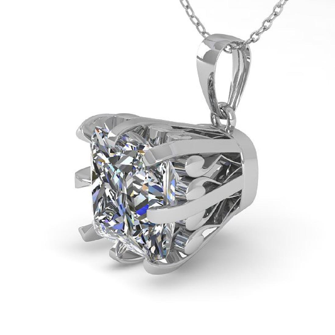 1 CTW Certified VS/SI Princess Diamond Necklace 14K